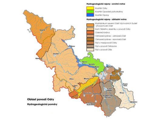 Hydrogeologické poměry povodí Odry (zdroj: http://www.pod.cz/plan-oblasti-povodi-Odry/a-popis/mapy/ma_1_4.jpg)