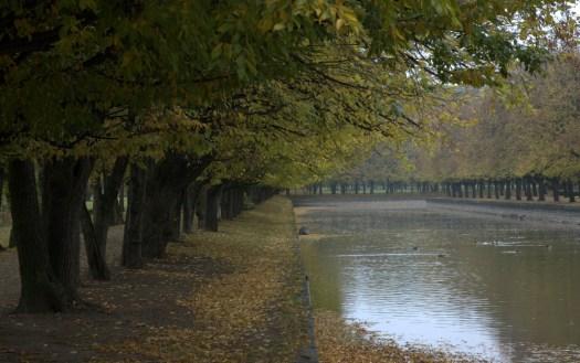 Vodní kanál v Holešovské zahradě.