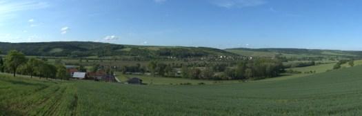 Řeka Olšava u Hradčovic.
