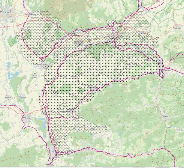 Vymezení Hranického bioregionu.
