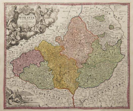 Müllerova mapa Moravy z roku 1716 (zdroj: https://www.arthousehejtmanek.cz/temp/images/front/item/image/0013998_1600x0_0.jpg).
