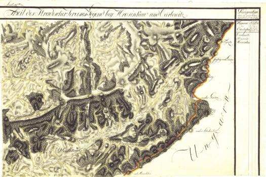 I. vojenské mapování - mapový list Hrozenkov (zdroj: http://oldmaps.geolab.cz/map_viewer.pl?lang=cs&map_root=1vm&map_region=mo&map_list=m094).
