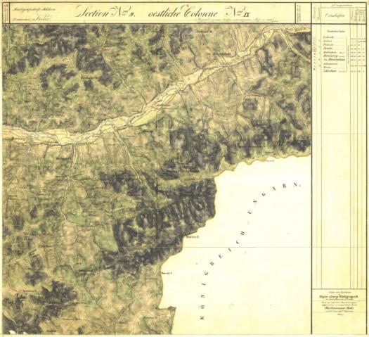 II. vojenské mapování - mapový list NOvý Hrozenkov (zdroj: http://oldmaps.geolab.cz/map_viewer.pl?lang=cs&map_root=2vm&map_region=mo&map_list=O_10_VI).
