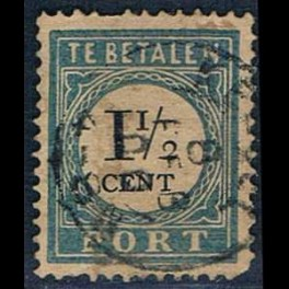 Single Stamp Mi41A From Te Betalen Postage Due From
