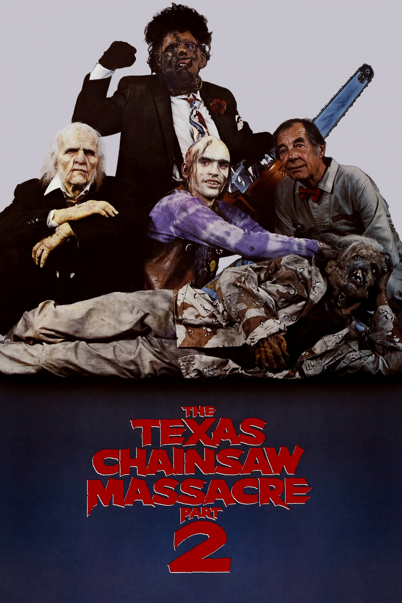 "Poster for the movie ""The Texas Chainsaw Massacre 2"""