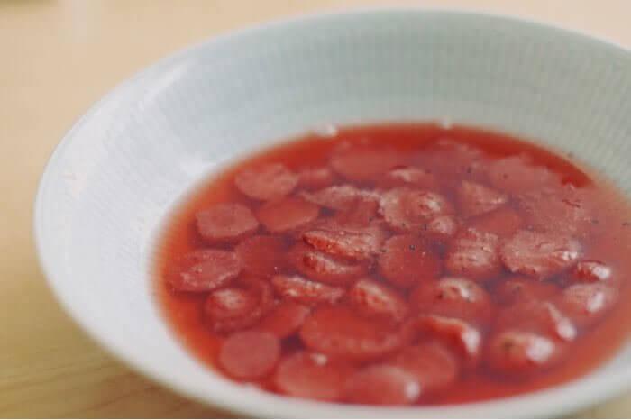 いちごのスープ完成