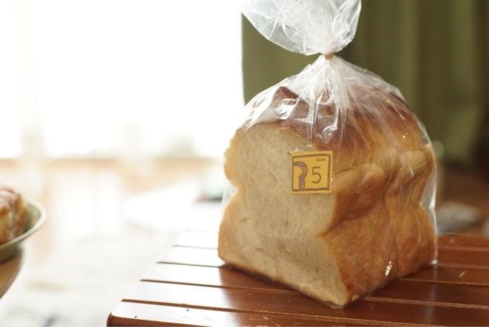 ぱんのちはれさんの食パン 5枚切りです