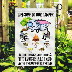 Welcome To Our Camper Personalized Garden Flag