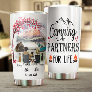 Camping Couple Personalized Stainless Steel Tumbler