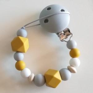 Chupetero baby mustard, mostaza, de Mordisquitos