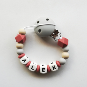 Chupetero personalizado terracotta de Mordisquitos
