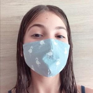 Mascarilla higiénica reutilizable tela tnt infantil niño talla M cubreboca tapaboca