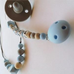 Canastilla bebé personalizada azul Mordisquitos. Canastreta pel nadó. Regalo recién nacido.