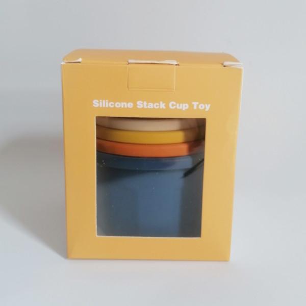 Cubos apilables de silicona para bebés mordisquitos