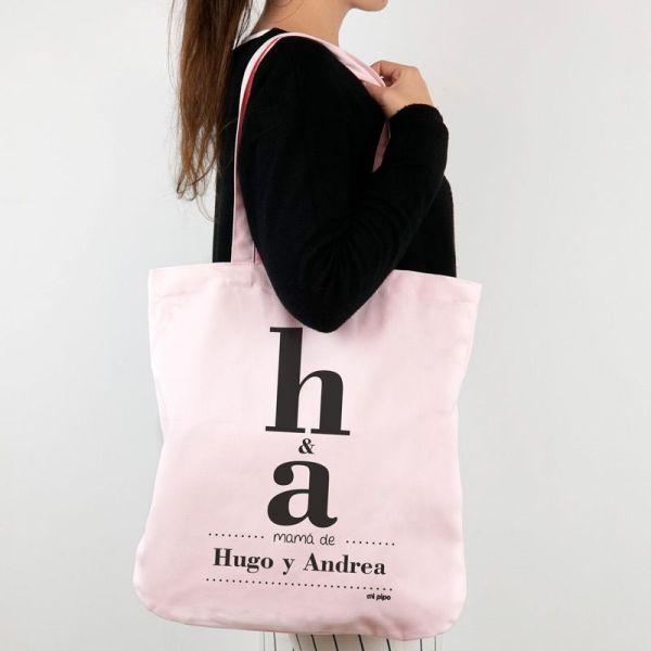Bolsa tote bag algodón orgánico día de la madre regalo mamá personalizado