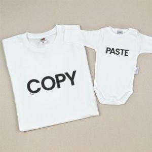 Pack de dos prendas copy paste adulto y niño bebe