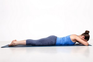 Yoga poses for eating disorder recovery: crocodile pose to reduce anxiety