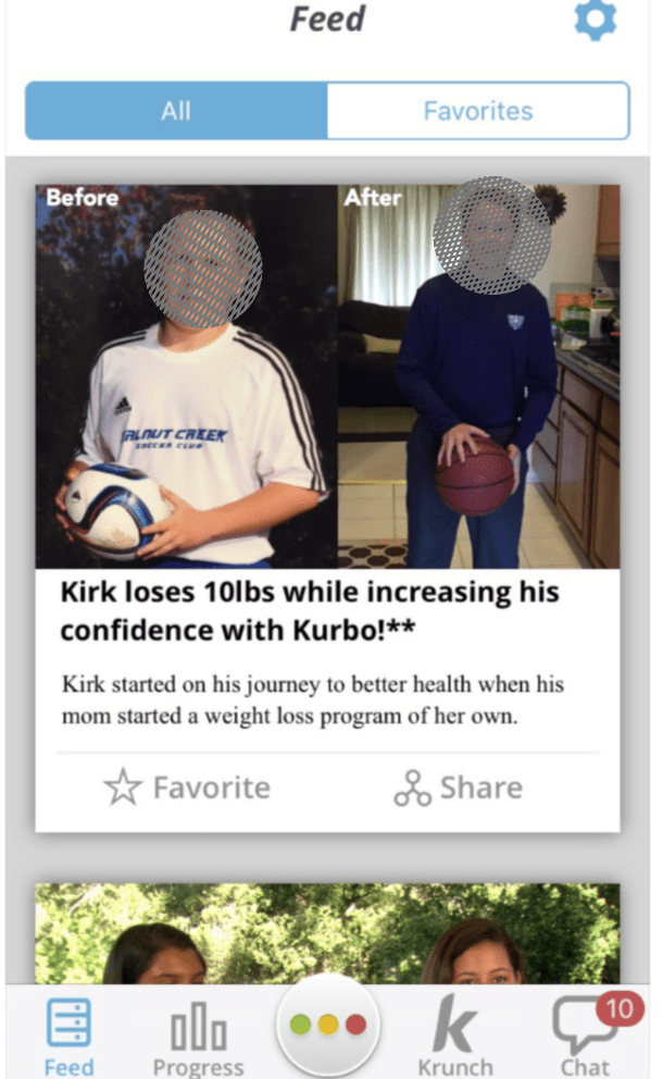 weight loss before and after ww kirbo app