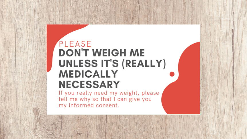 please don't weigh me cards