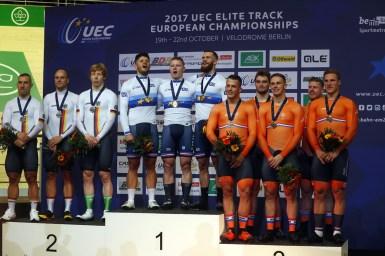 ブフリ、チームスプリントで銅。ドミトリエフ&パーキンスのロシアは4位/ヨーロッパ・エリート・トラック選手権2017 男子エリート チームスプリント