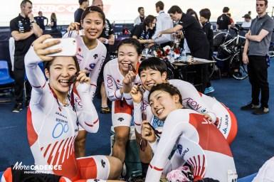 「ここをスタートラインにもっと上へ」ワールドカップ銅メダル獲得の女子団体追い抜き/2017-18トラックワールドカップ第2戦