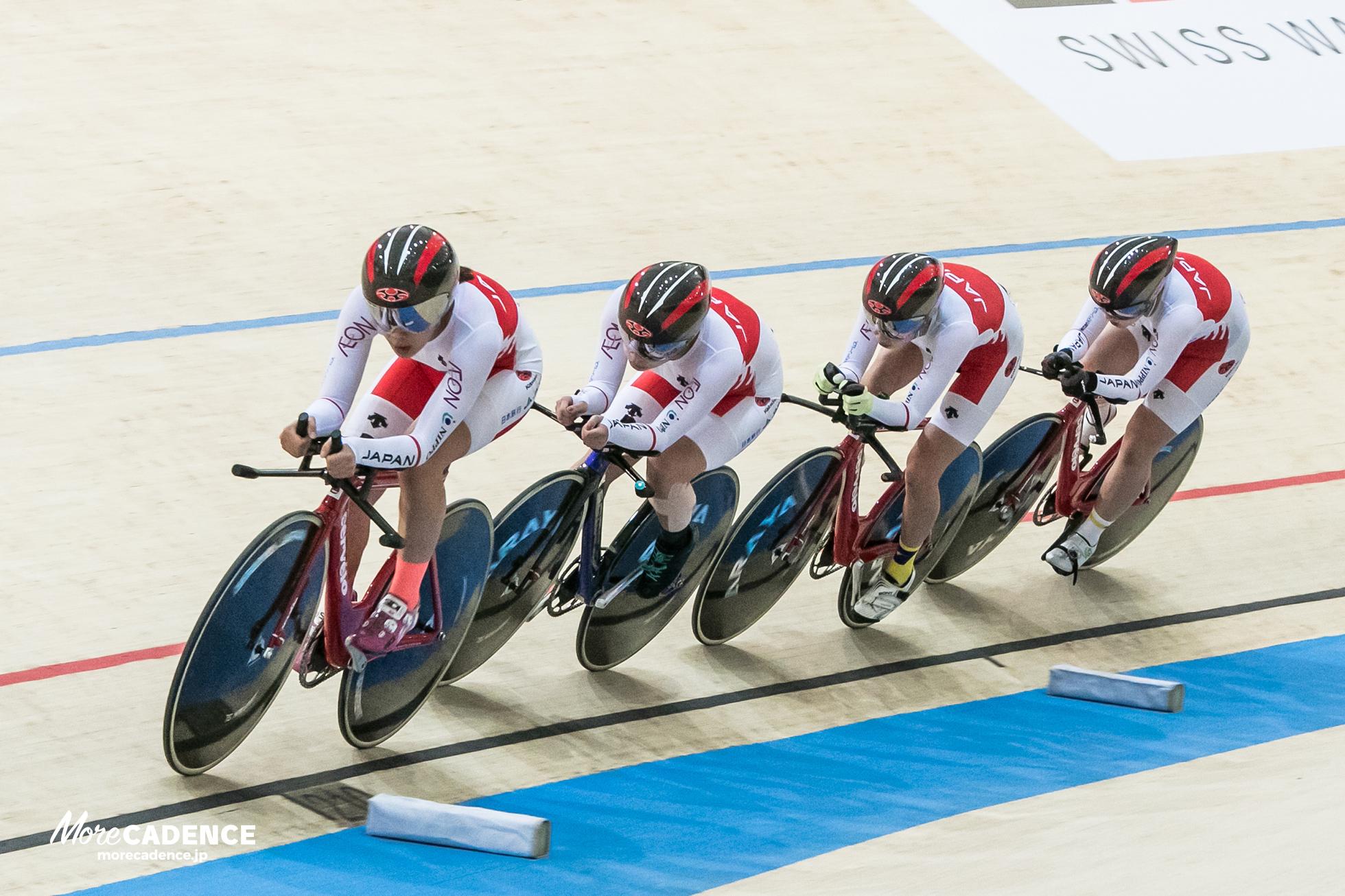 女子団体追い抜き、銅メダル