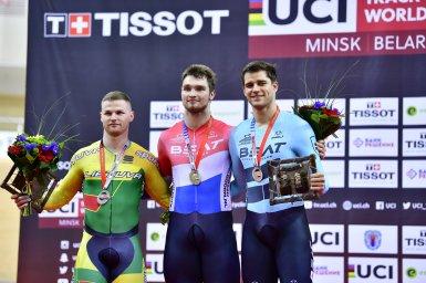 男子スプリントでブフリ金、ボス銅のBEAT CYCLING CLUBメダルラッシュ/2017-18トラックワールドカップ5戦