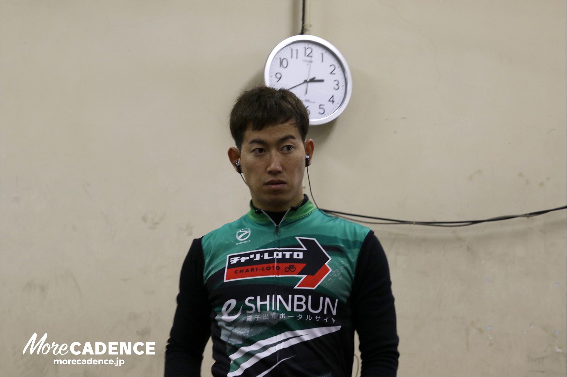 レース前の脇本雄太選手