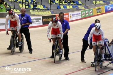 男子チームスプリント予選2位、金メダルを賭け韓国と対戦/アジア自転車競技選手権2018