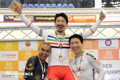 渡邉一成が金・男子スプリントでアジア王者に/アジア選手権トラック2018
