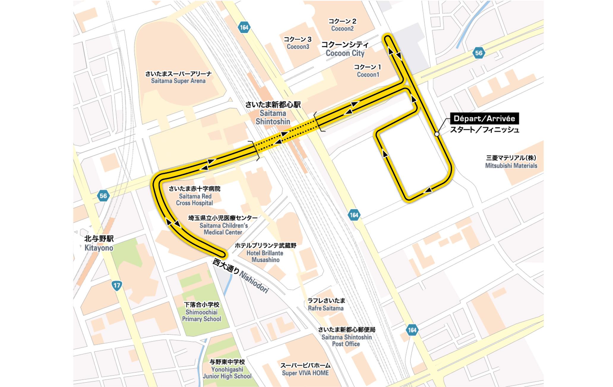 2018ツール・ド・フランスさいたまクリテリウム コースマップ