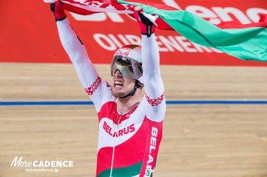 男子スクラッチはベラルーシのカラリオキが優勝/トラック世界選手権2018