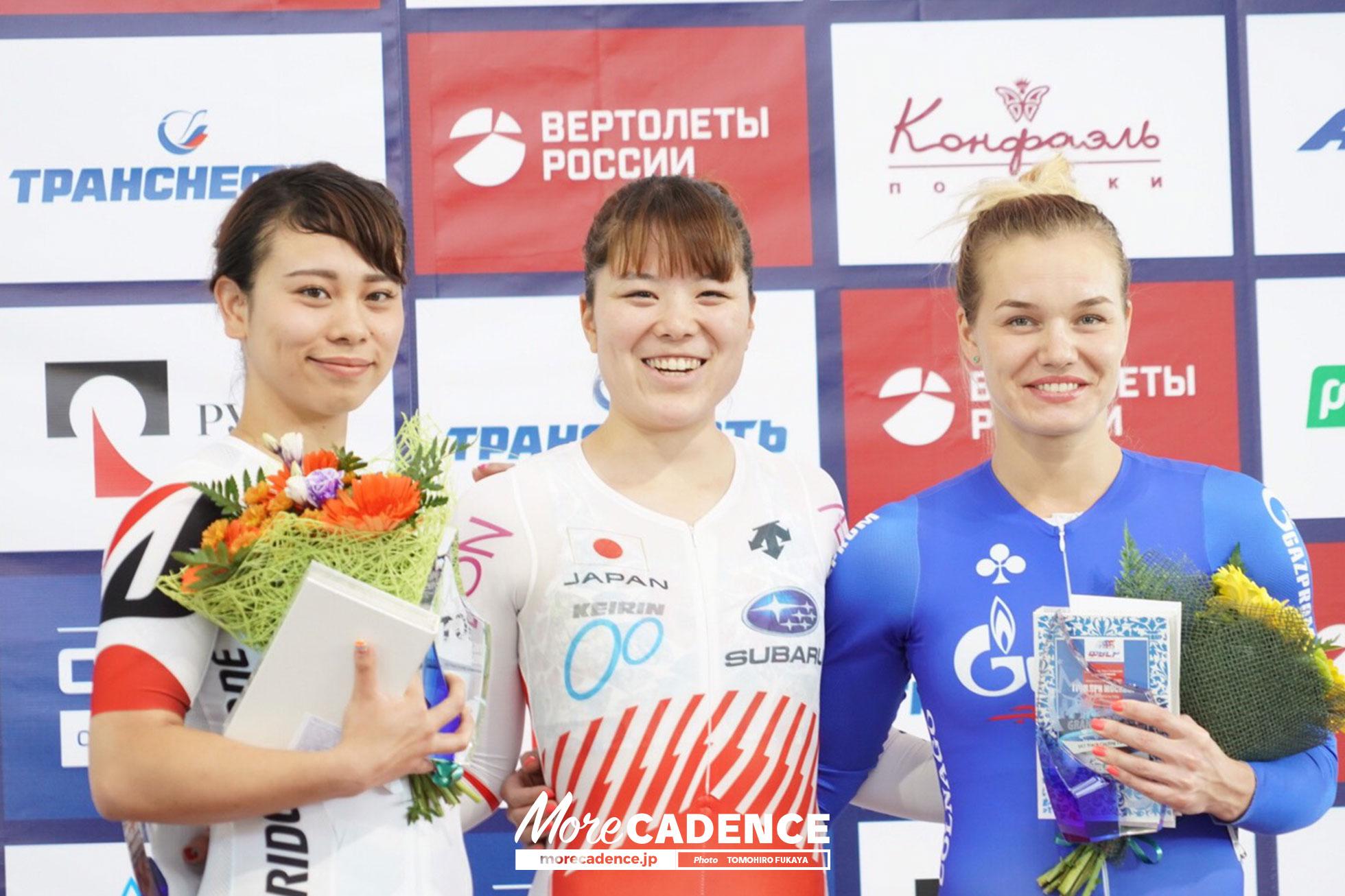優勝:小林優香、2位:太田りゆ、3位:アナスタシア・ボイノワ