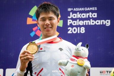 日本史上初の金メダル、長迫吉拓「東京五輪への良いステップになった」/アジア大会2018BMXレース