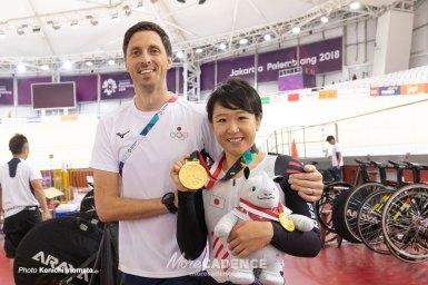 梶原悠未が表彰台の頂へ「金メダルだけを狙って走った」/アジア大会2018・女子オムニアム