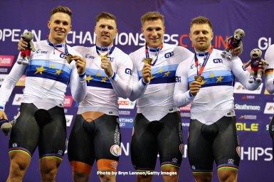 男子チームスプリント、世界王者オランダがヨーロッパ選手権も制す/UECトラックヨーロッパ選手権2018