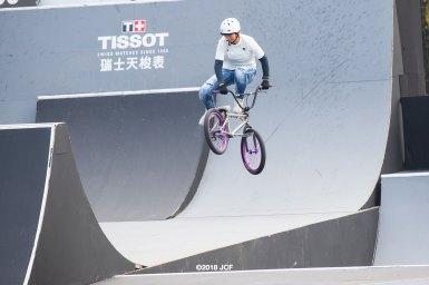 大池水杜が世界選手権大会アーバンサイクリング・BMXフリースタイルパーク決勝進出10位