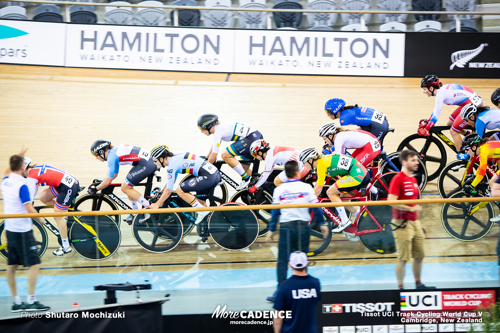 Scratch Race/ Women's Omnium / Track Cycling World Cup V / Cambridge, New Zealand
