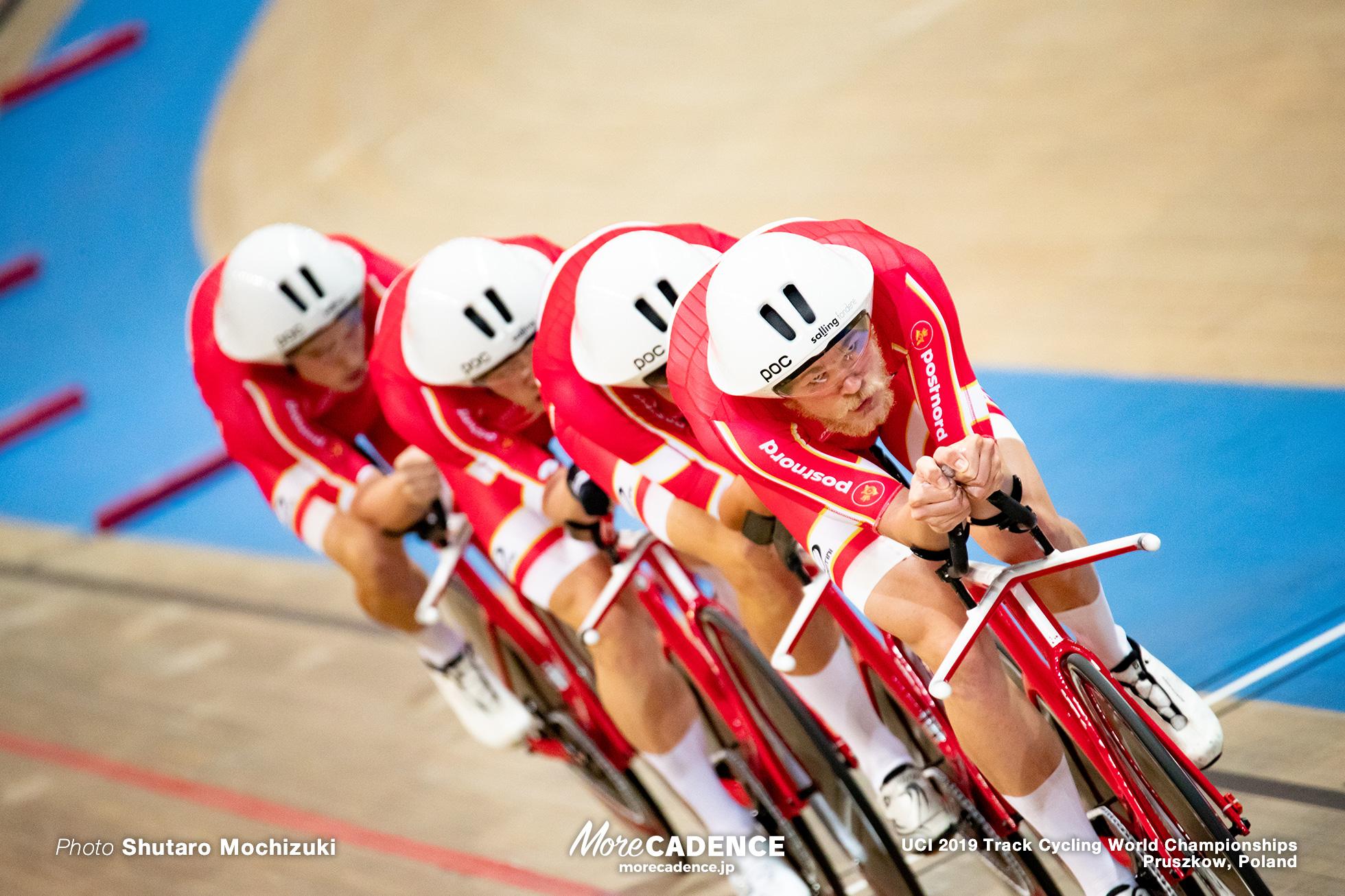 Men's Team Pursuit Final / 2019 Track Cycling World Championships Pruszków, Poland, Lasse Norman Hansen / Julius Johansen / Rasmus Pedersen / Casper von Folsach ラッセ・ノーマン・ハンセン / ジュリアス・ヨハンセン / ラスムス・ペダーセン / キャスパー・フォルザック