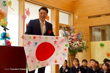 【深谷知広フォトレポート】新田祐大が幼稚園の入園式で子供達に与えた夢