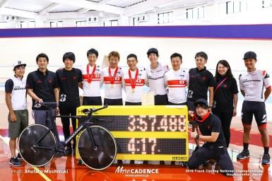 ブリヂストンがチームパシュート日本記録を更新「オリンピックへの可能性はゼロじゃない」/2019全日本トラック・男子エリート チームパシュート