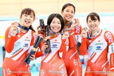 女子チームパシュート銅メダル/アジア選手権トラック2020