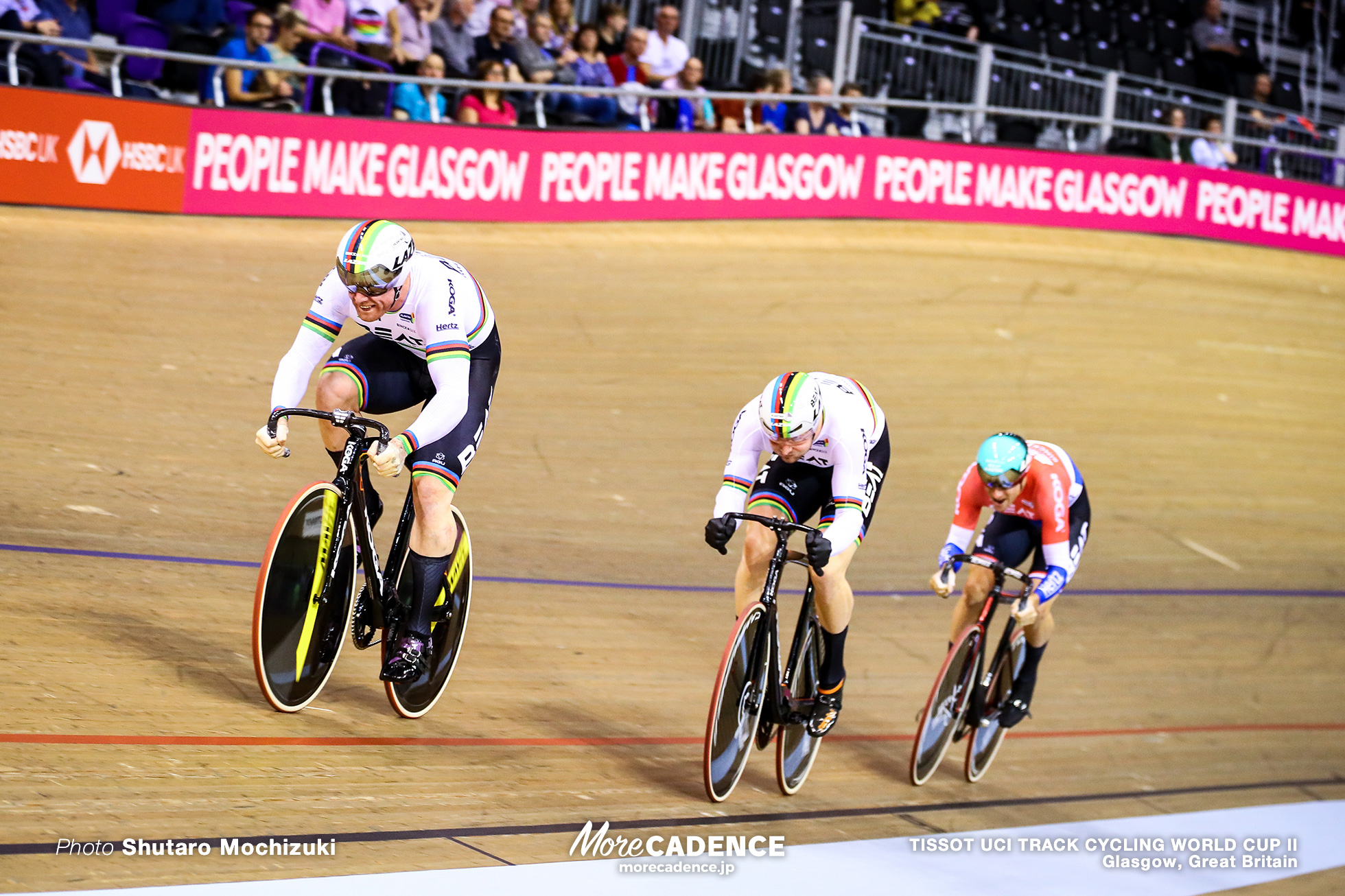 Men's Team Sprint / TISSOT UCI TRACK CYCLING WORLD CUP II, Glasgow, Great Britain