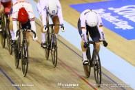 Final / Women's Keirin / TISSOT UCI TRACK CYCLING WORLD CUP II, Glasgow, Great Britain, Emma HINZE エマ・ヒンツェ Katy MARCHANT ケイティー・マーシャン