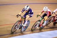 Point Race / Women's Omnium / TISSOT UCI TRACK CYCLING WORLD CUP II, Glasgow, Great Britain, Coralie DEMAY コーリー・デミー