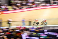 Point Race / Women's Omnium / TISSOT UCI TRACK CYCLING WORLD CUP II, Glasgow, Great Britain, 梶原悠未