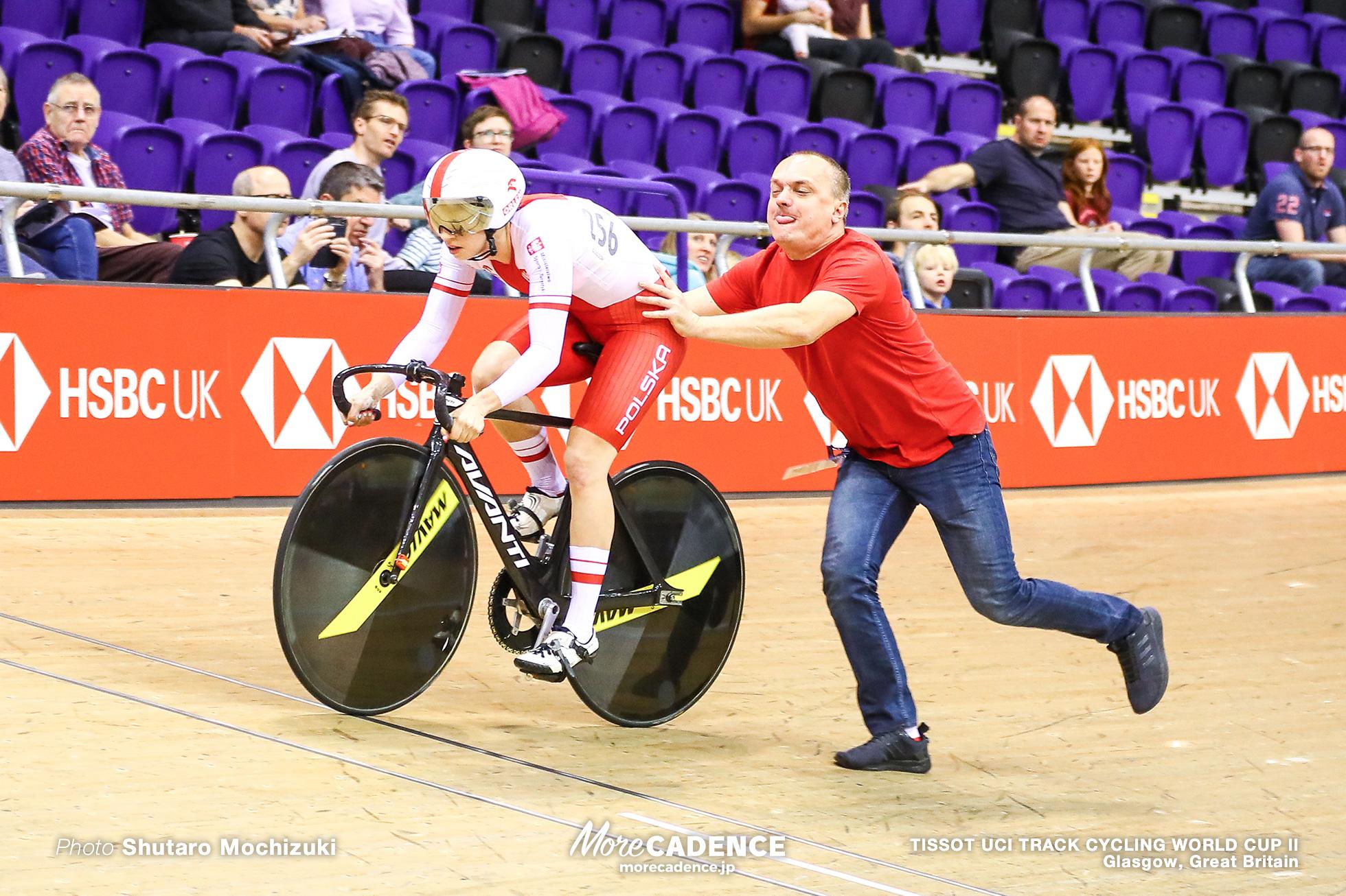 Qualifying / Women's Sprint / TISSOT UCI TRACK CYCLING WORLD CUP II, Glasgow, Great Britain, Marlena KARWACKA マルレーナ・カワバツカ