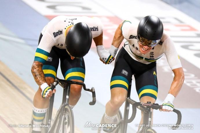Men's Madison / TISSOT UCI TRACK CYCLING WORLD CUP V, Brisbane, Australia, Sam WELSFORD サム・ウェルスフォード Cameron MEYER キャメロン・マイヤー