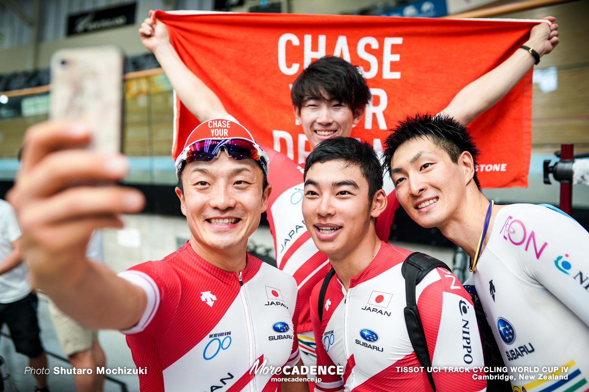 Qualifying / Men's Team Pursuit / TISSOT UCI TRACK CYCLING WORLD CUP IV, Cambridge, New Zealand, 沢田桂太郎 窪木一茂 今村駿介 近谷涼