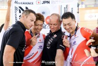 Final / Men's Sprint / TISSOT UCI TRACK CYCLING WORLD CUP IV, Cambridge, New Zealand, 深谷知広 新田祐大 ブノワ・ベトゥ ジェイソン・ニブレット